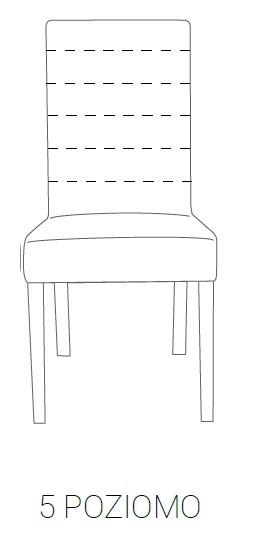 Krzesło SIMPLE 85h - 5 poziomo