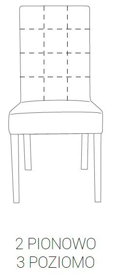 Krzesło SIMPLE 85h - 2 pion + 3 poziom