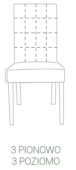Krzesło SIMPLE 85h - 3 pion + 3 poziom