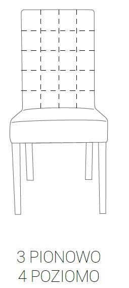 Krzesło SIMPLE 85h - 3 pion + 4 poziom