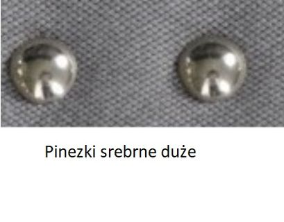 Hoker SIMPLE 67h - srebrne pinezki duże