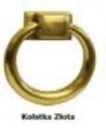 Fotel MILAN 85H - złota kołatka