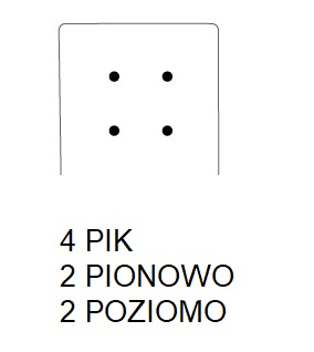 Hoker SIMPLE 67h - 4 PIK: 2 pion; 2 poziom