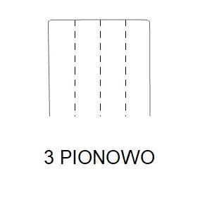 Hoker SIMPLE 67h - 3 PIONOWO:Przeszycie - 3 szwy pionowo