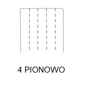 Hoker SIMPLE 67h - 4 PIONOWO Przeszycie - 4 szwy pionowo