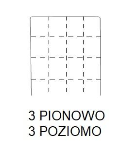 Hoker SIMPLE 67h -  3 POZIOMO + 3 PIONOWO Przeszycie w kratkę - 3 szwy pionowo + 3 szwy poziomo