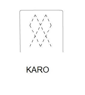 Hoker SIMPLE 67h - KARO Przeszycie - wzór karo