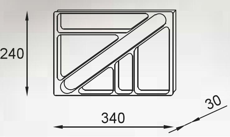 Kontener K2 - Wkład piórnikowy PM