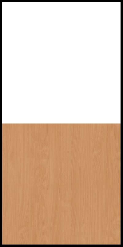 Szafa CLASSIC CS12 - Biały Opal/Buk Bavaria