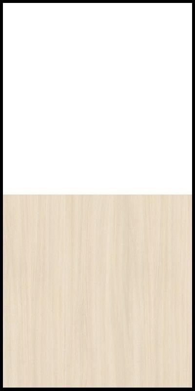 Regał CLASSIC CS14 - Biały Opal/Dąb Mleczny