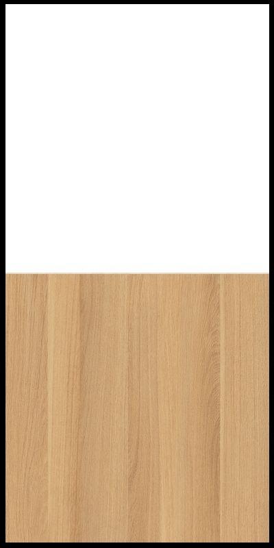 Regał CLASSIC CS14 - Biały Opal/Dąb Nova