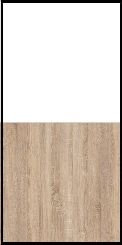 Regał CLASSIC CS14 - Biały Opal/Dąb Sonoma Jasny
