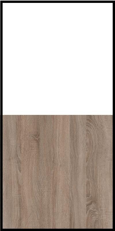 Regał CLASSIC CS14 - Biały Opal/Dąb Truflowy
