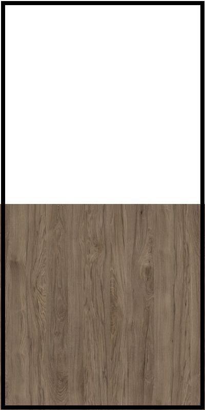 Regał CLASSIC CS14 - Biały Opal/Orzech Rockford Ciemny