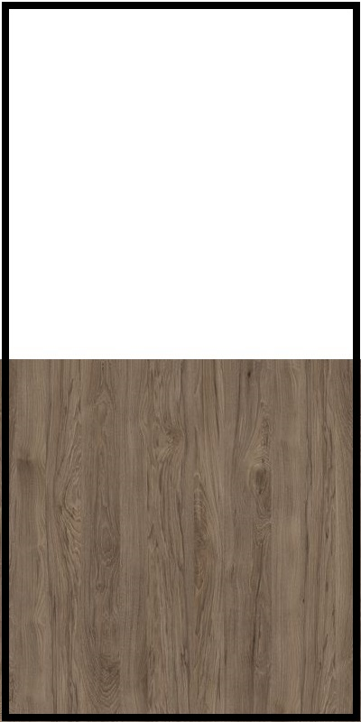 Szafa CLASSIC CS12 - Biały Opal/Orzech Rockford Ciemny