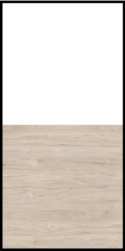 Szafa CLASSIC CS12 - Biały Opal/Orzech Rockford Jasny