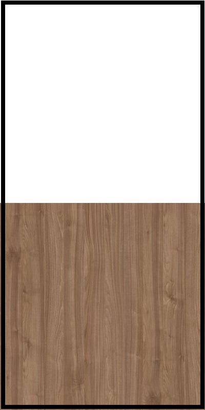 Regał CLASSIC CS14 - Biały Opal/Orzech Select Ciemny