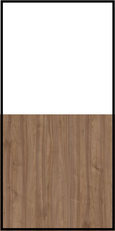 Szafa CLASSIC CS12 - Biały Opal/Orzech Select Ciemny