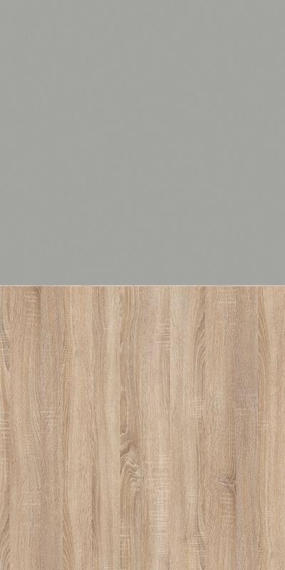 Szafa CLASSIC CS12 - Szary Chinchila/Dąb Sonoma Jasny