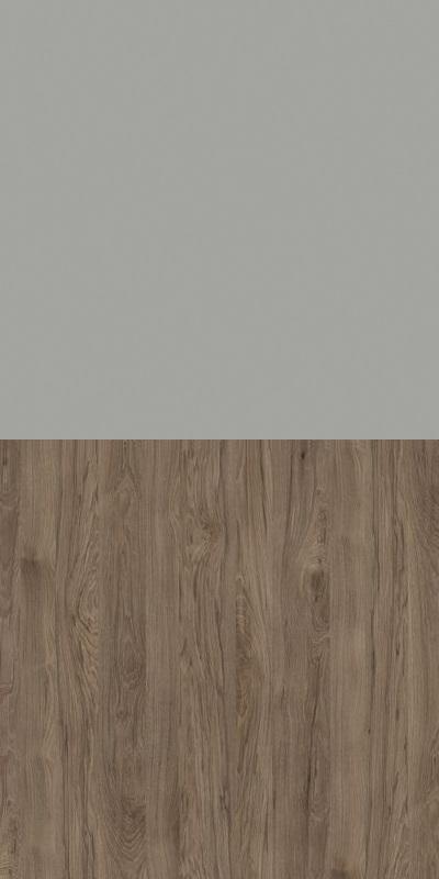 Regał CLASSIC CS14 - Szary Chinchila/Orzech Rockford Ciemny