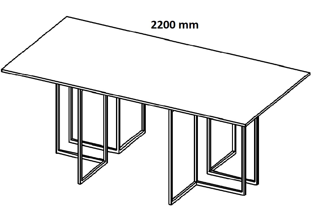 Stół konferencyjny HX 2201/ HX 2401 - szerokość 2200 mm