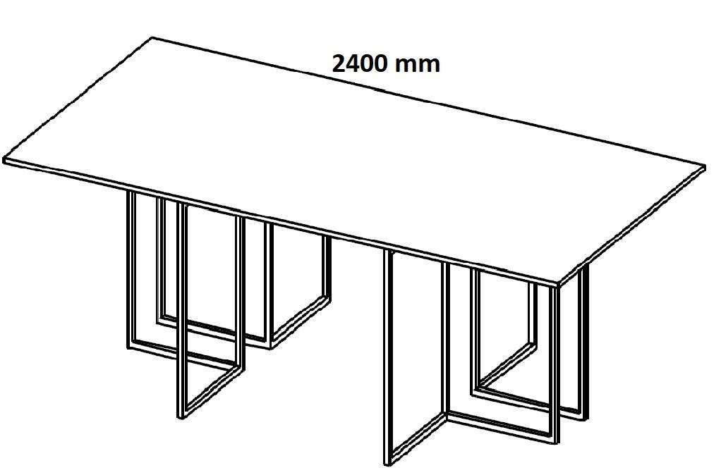 Stół konferencyjny HX 2201/ HX 2401 - szerokość 2400 mm