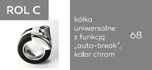 Krzesło biurowe obrotowe Sky_line SK5R 1N/2N - ROL C - uniwersalne auto-break - chrom