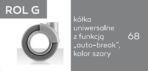 Krzesło biurowe obrotowe Sky_line SK5R 1N/2N - ROL G - uniwersalne auto-break - szare