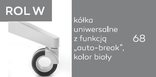 Krzesło biurowe obrotowe Sky_line SK5R 1N/2N - ROL W - uniwersalne auto-break - białe