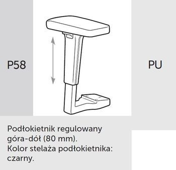 Fotel Biurowy obrotowy XENON - oparcie niskie - P58 PU