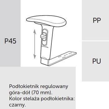Fotel Biurowy obrotowy RAYA 23 - P45 PU