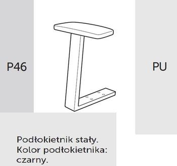 Fotel Biurowy obrotowy RAYA 23 - P46 PU