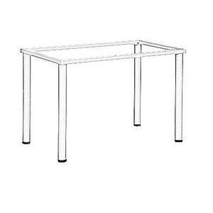 Stelaż do stołu i biurka EF-57/KA nogi kwadratowe 5x5 cm - ALUMINIUM - 196x76x72,5h