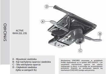 Fotel Biurowy obrotowy RAYA 23 - synchro S Raya