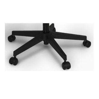 ENTELO Dobre Krzesło obrotowe NERO nr 6 - podstawa czarna / chrom - Czarna