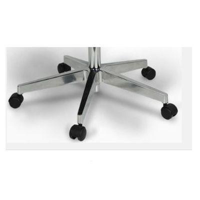 ENTELO Dobre Krzesło obrotowe NERO nr 6 - podstawa czarna / chrom - Polerowana efekt chrom