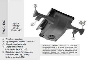 Fotel Biurowy obrotowy XENON - oparcie niskie - synchro SFL XENON,XENON NET