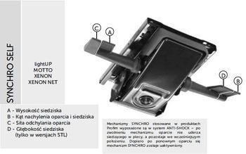 Fotel Biurowy obrotowy XENON - oparcie niskie - synchro SELF STL XENON,XENON NET