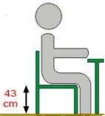 Krzesło ucznia  ADAM - rozmiar 5