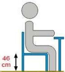 Krzesło ucznia  KAROL - rozmiar 6