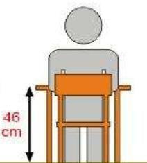 Stolik MB prostokątny metal fi 60 / opcja regulacja wysokości - rozmiar 1