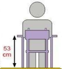Stolik MB prostokątny metal fi 60 / opcja regulacja wysokości - rozmiar 2