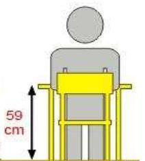 Stolik MB prostokątny metal fi 60 / opcja regulacja wysokości - rozmiar 3