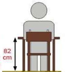 Stolik szkolny REKS 1 osobowy - rozmiar 7