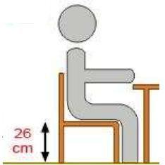 Krzesło ucznia  GAWEŁ - rozmiar 1