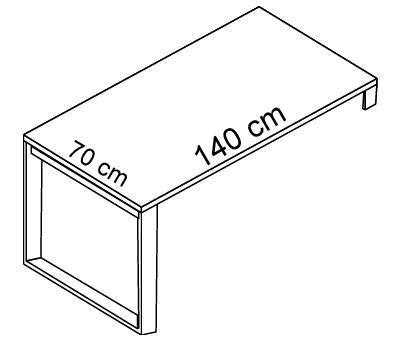 Biurko EVRO EVB 13 - 15 stelaż otwarty - EVB13 140x70x75h