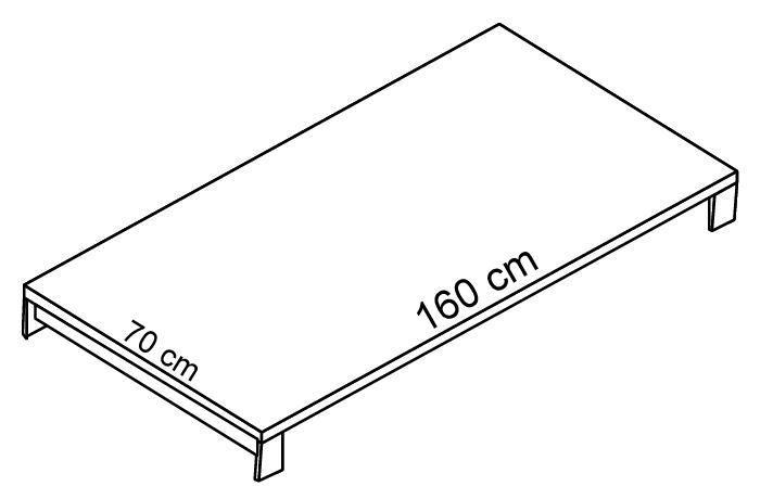 Biurko - blat EVRO EVB 22 - 24 stelaż otwarty - EVB23 160x70