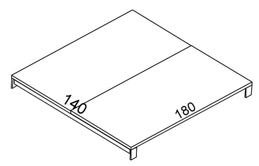 Biurko - blat EVRO EVB 25 - 27 stelaż otwarty - EVB27 180x140