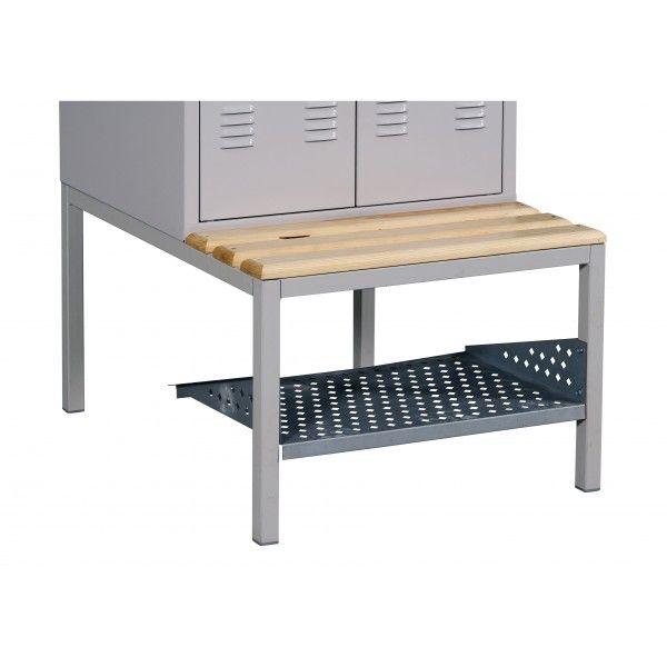 Szafa metalowa szkolna ubraniowa BHP/3/3MP - półka na buty 900 mm