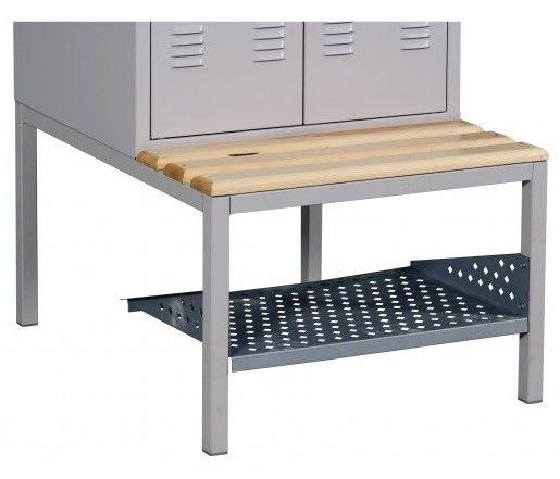Szafa metalowa szkolna ubraniowa BHP/4/4MP - półka na buty 1200 mm